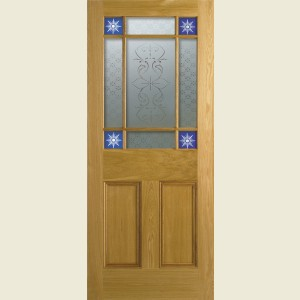 33 x 78 Downham White Oak Door