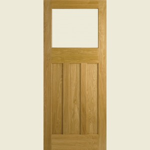 DX 30s Style Glazed White Oak Doors