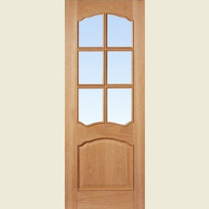 Ornate Six Light Oak Doors