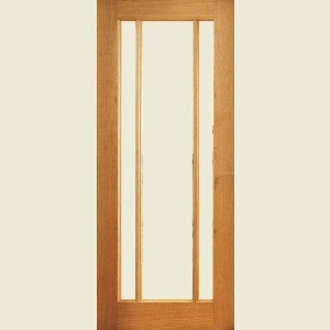 Internal Three Light Vertical Glazed Doors