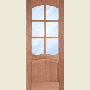 Riviera Six Light Hardwood Glazed Doors