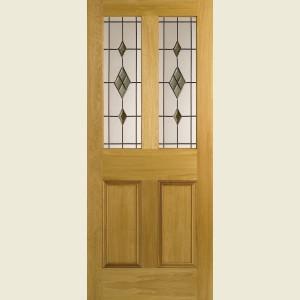 Malton Leaded White Oak Doors