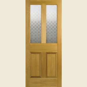 Malton Screenprint White Oak Doors