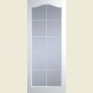Manhattan Ten Light Arch Top Clear Glazed Textured Doors