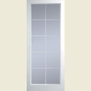 Manhattan Ten Light Clear Glazed Textured Doors