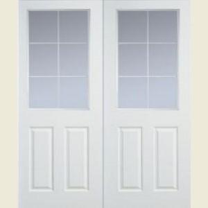 Manhattan Twelve Light Clear Glazed Smooth Door Pairs