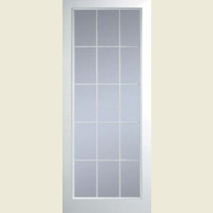 Manhattan Fifteen Light Clear Glazed Smooth Doors