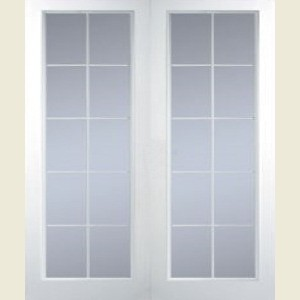 Manhattan Twenty Light Clear Glazed Textured Door Pairs