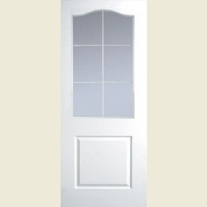 Manhattan Six Light Arch Top Clear Glazed Textured Doors