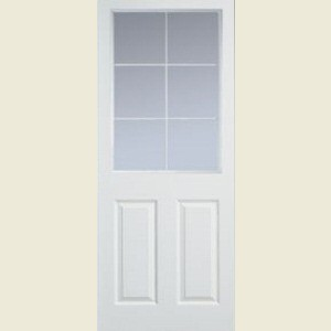 Manhattan Six Light Clear Glazed Smooth Doors