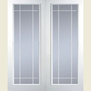 Manhattan Full Light Clear Glazed Textured Door Pairs