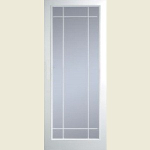 Manhattan Full Light Clear Glazed Textured Doors