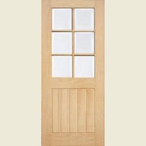 Mexicana Oak Six Light Glazed Doors