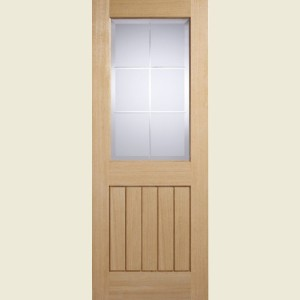 Mexicano Oak Valencia Glazed Doors