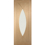 33 x 78 Pesaro Oak Fire Door with Clear Glass