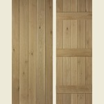 24 x 78 Solid Oak Ledged Door