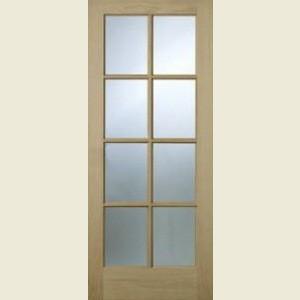 Somerset Oak Eight Light Glazed Doors