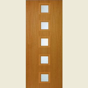 726 x 2040mm American Cherry Veneer 10G FD30 Fire Door