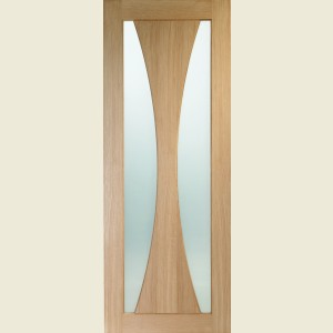 Verona oak Door With Clear Glass