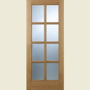 Internal Eight Light Oak Doors