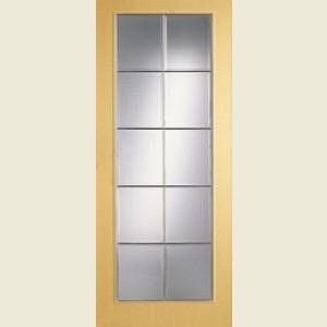 Wood Tone Ash Full Light Doors