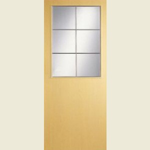 Wood Tone Ash Half Light Doors