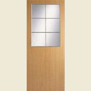 Wood Tone Beech Half Light Doors