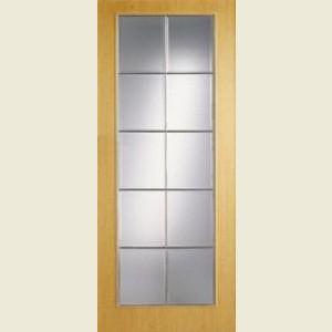 Wood Tone Oak Full Light Doors