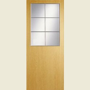 Wood Tone Oak Half Light Doors