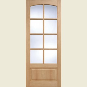 Worthing Eight Light Oak Doors