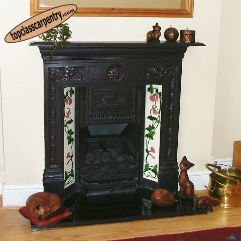 Traditional Gas Conversion Fireplace image