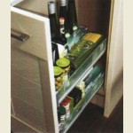 Glass-Line Front Pull-Out Organiser 150mm