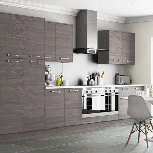 Woodgrain Brown Grey Kitchen