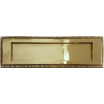 10 x 3 Inch Brass Georgian Letterplate