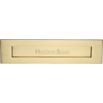 13 Inch Letter Plate Brushed Brass