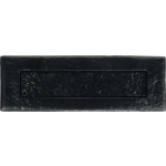 Narrow Plain Semi Flush Letter Plate Antique Black