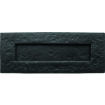 Plain Letter Plate Antique Black