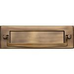 254mm x 78mm Postal Knocker Letter Plate Antique Brass