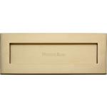 356mm x 127mm Letter Box Cover Plate Satin Brass