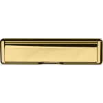 Fire Rated Telescopic Letter Plate PVD Polished Brass