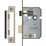 64mm 3-Lever Mortice Sashlock Satin Nickel