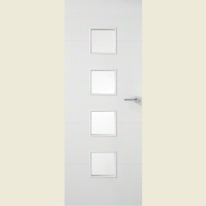 Horizontal Premium Four Line Four Light Clear Glazed Door