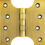 102mm x  52mm x 102mm x 4mm Parliament Hinge Antique Brass