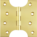 102mm x  52mm x 102mm x 4mm Parliament Hinge Polished Brass