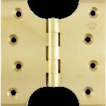 102mm x  50mm x 101mm x 4mm Parliament Hinge Polished Brass