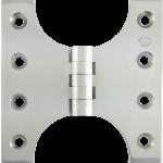 102mm x  60mm x 102mm x 4mm Parliament Hinge Polished Chrome