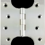 102mm x  52mm x 102mm x 4mm Parliament Hinge Polished Chrome