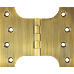 102mm x  76mm x 127mm x 4mm Parliament Hinge Antique Brass
