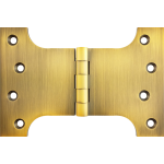 102mm x 100mm x 152mm x 4mm Parliament Hinge Antique Brass