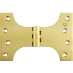 102mm x 100mm x 152mm x 5mm Parliament Hinge Polished Brass